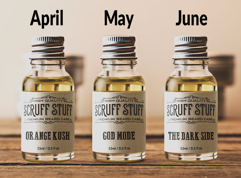 Beard Oil Subscription April May June