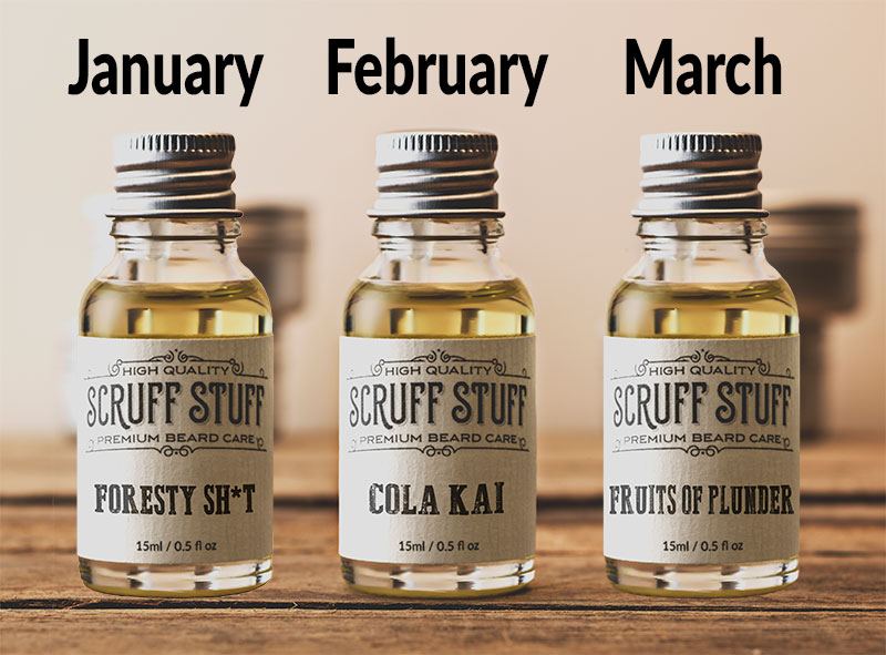 Beard Oil Subscription Jan Feb March