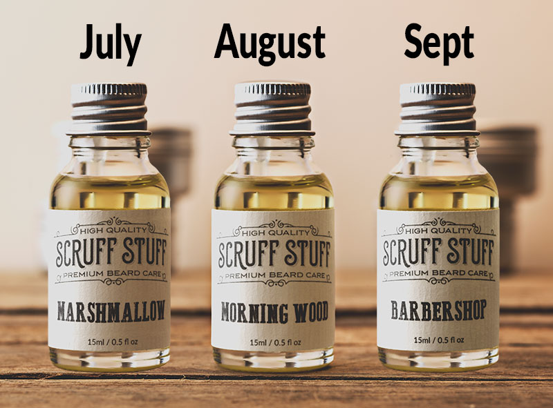 Beard Oil Subscription July Aug Sept